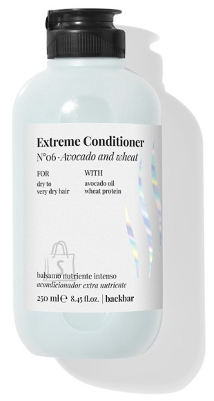 FarmaVita BACK.BAR Extreme Conditioner No.6 - palsam kuivadele juustele avokaado + nisu 250ml