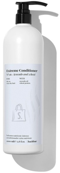 FarmaVita BACK.BAR Extreme Conditioner No.6 - palsam kuivadele juustele avokaado + nisu 1000ml