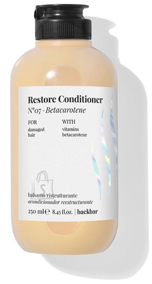 FarmaVita BACK.BAR Restore Conditioner No.7 - taastav palsam kahjustatud juustele betakaroteeniga 250ml