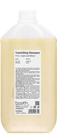 FarmaVita BACK.BAR Nourishing Shampoo No.2 - toitev śampoon kuivadele juustele argaania + mesi 5000ml