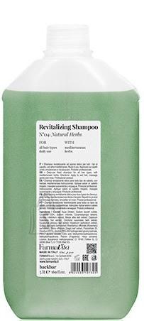 FarmaVita BACK.BAR Revitalizing Shampoo No.4 - elustav śampoon igapäevaseks kasutamiseks looduslike ürtidega 5000ml