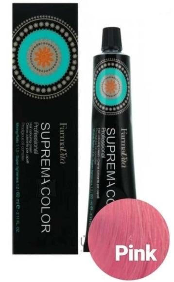 "FarmaVita SUPREMA COLOR Cream ""Pink"" juuksevärv 60ml"