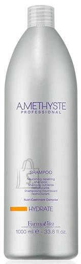 FarmaVita Amethyste Hydrate Shampoo - niisutav ja toitev śampoon kuivadele käsitletud juustele 1000ml