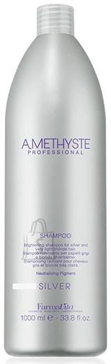 FarmaVita Amethyste Silver Shampoo - śampoon juuste soovimatu kollase varjundi peitmiseks 1000ml