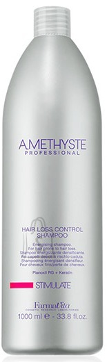 FarmaVita Amethyste Stimulate Hair Loss Control Shampoo - Energia šampoon, mis tugevdab nõrk juukseid ning aitab vähendada juuste väljalangemise riski 1000ml