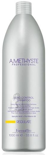 FarmaVita Amethyste Regulate Sebo Control Shampoo - Pikatoimeline tasakaalustav šampoon rasusele peanahale ja juustele 1000ml