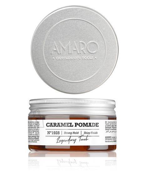 FarmaVita Barber Collection Amaro - Caramel Pomade strong hold - Tugeva fikseerimisega karamelli juuksevaha 100ml