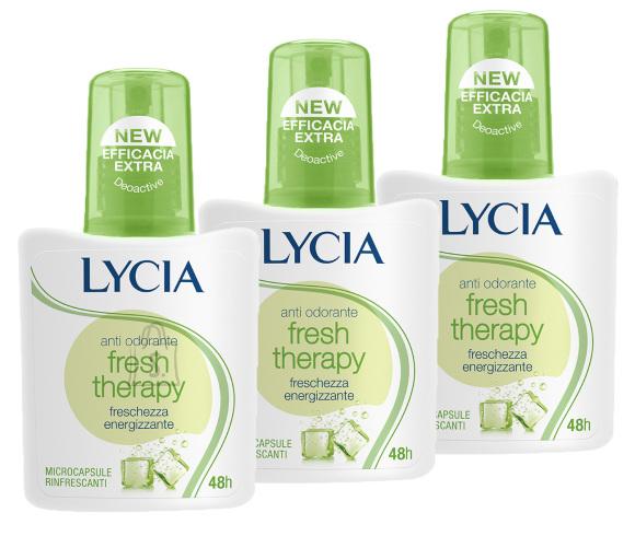 Lycia Fresh Therapy pihustiga deodorant higilõhna neutraliseerija 3tk x 75ml