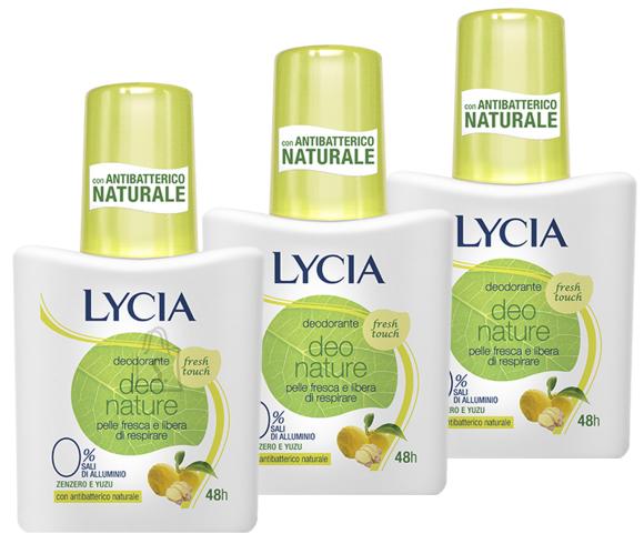 Lycia Deo Nature Fresh Touch pihustiga deoparfüümiga deodorant higilõhna neutraliseerija 75ml x 3tk