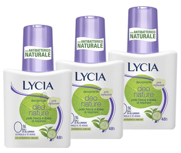 Lycia Deo Nature Zen Infusion pihustiga deoparfüümiga deodorant higilõhna neutraliseerija 75ml x 3tk