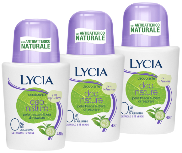 Lycia Deo Nature Zen Infusion roll-on deoparfüümiga deodorant higilõhna neutraliseerija 50ml x 3tk