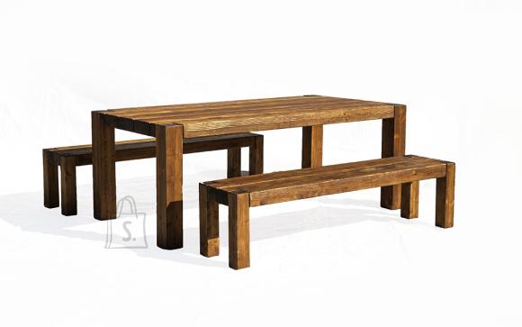 Terrassikomplekt Wolf 0015 suur laud ja 2 pinki (mõlemad ilma seljatoeta ja ilma käetugedetta)