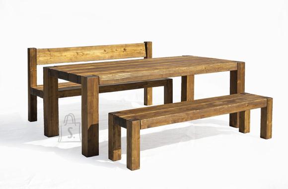 Terrassikomplekt Wolf 0012 suur laud ja 2 pinki (seljatoega+ilma seljatoeta pink)