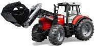Bruder mängusõiduk Massey Ferguson traktor esilaaduriga