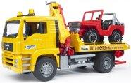 Bruder mängusõiduk Man puksiirauto + maastikuauto