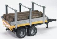 Bruder mängusõiduki järelhaagis metsaveoks 3 palgiga