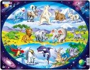 """Larsen pusle """"Õpi tundma loomasid"""" 15 tk"""