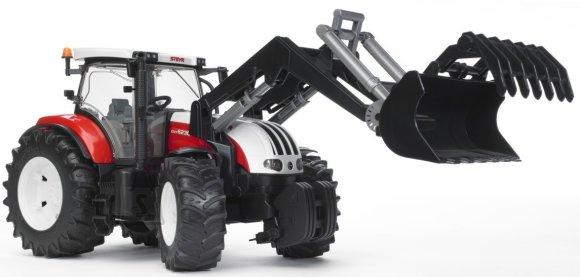 Bruder mängusõiduk Steyr CVT 6230 traktor kopaga