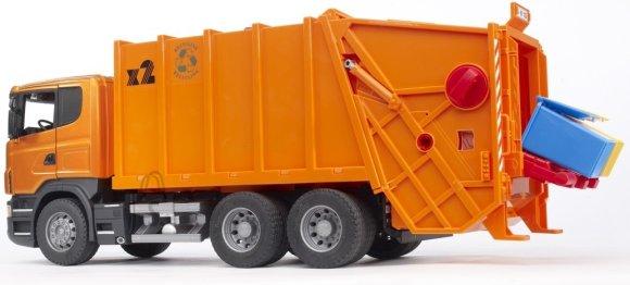 Bruder mängusõiduk Scania prügiauto