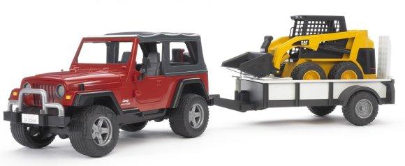 Bruder Jeep Wrangler haagisega + ekskavaator