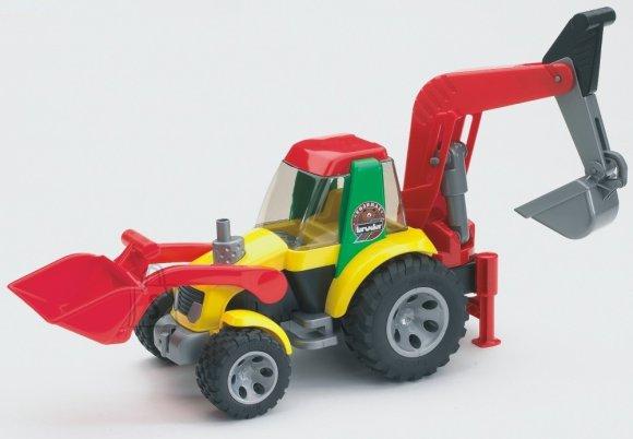 Bruder mängusõiduk Roadmax väikelaste traktor ekskavaatoriga