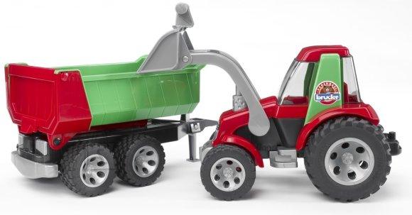 Bruder Roadmax traktor haagisega väikelastele