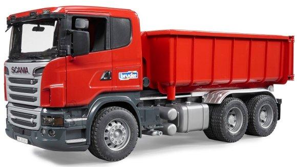 Bruder mängusõiduk Scania veoauto rullkonteineriga