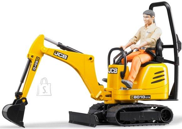 Bruder mängusõiduk JCB miniekskavaator ja ehitustööline