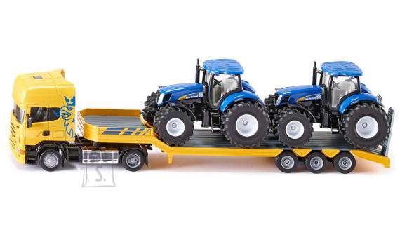 Siku mudelsõiduk veoauto Scania traktoritega