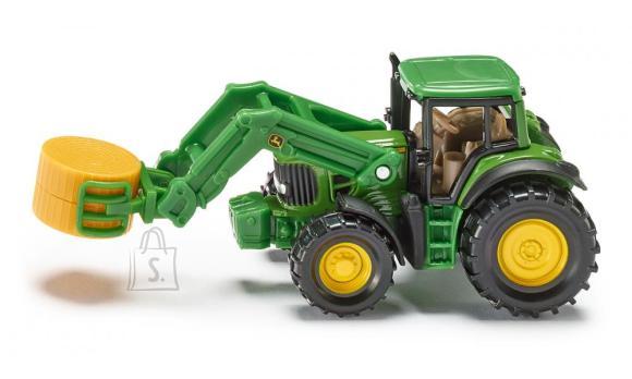 Siku mudelsõiduk John Deere traktor heinapalliga