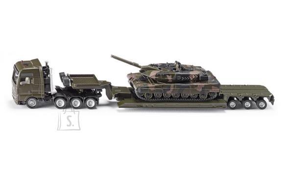 Siku mudelsõiduk veoauto treileri ja tankiga