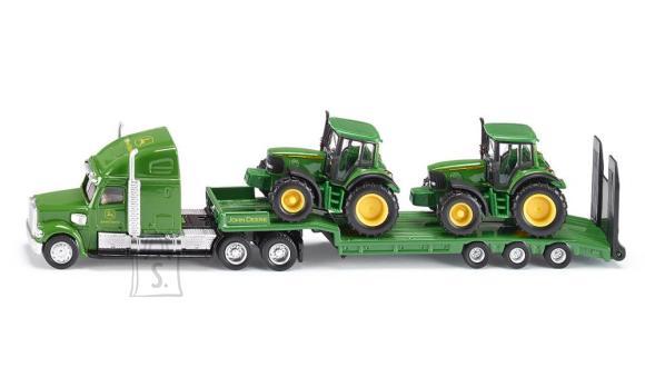 Siku mudelsõiduk John Deere treiler traktoritega