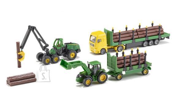 Siku mudelikomplekt metsaveo masinad