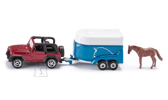 Siku mudelauto Jeep hobuveokiga