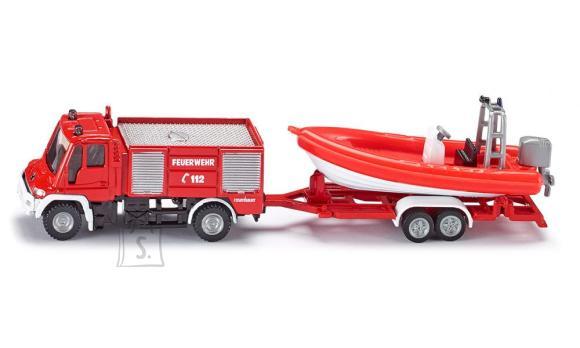 Siku mudelsõiduk tuletõrjeauto paadiga