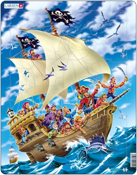 Larsen pusle piraadilaev 30 tk