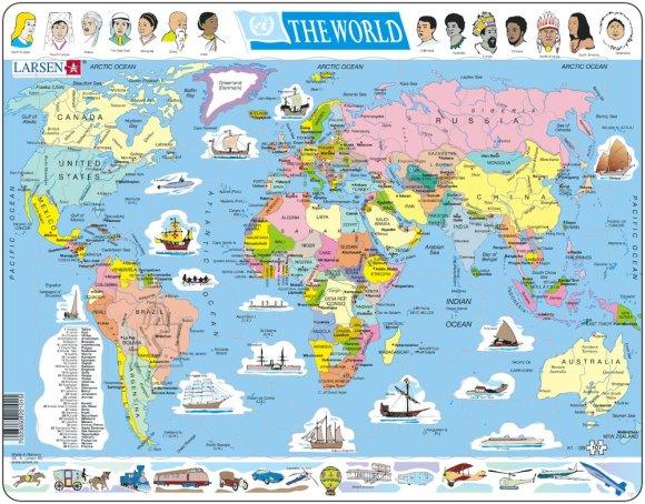 Larsen pusle maailmakaart 107 tk