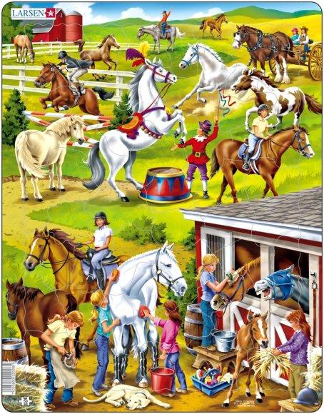 Larsen pusle hobused 50 tk