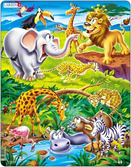 Larsen pusle safari 18 tk
