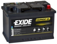 Exide EQUIPMENT GEL 56Ah 650Wh 278x175x190-+ aku