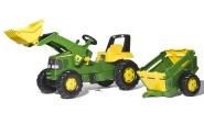 Rolly Toys Rolly Junior John Deere traktor käru ja kopaga
