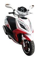 """Motoroller Freedo 12"""" 50cc valge-punane"""