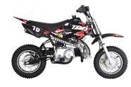 Dirt Bike 10 90cc punane-must