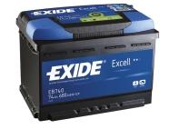 Exide Aku Excell 74Ah 680A 278x175x190 -+
