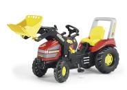 X-Trac pedaalidega traktor lastele kopaga