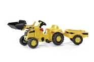 Rolly Toys Cat pedaalidega traktor lastele kopa ja käruga
