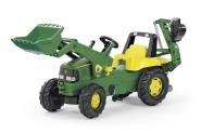 Rolly Toys John Deere pedaalidega traktor lastele kopa ja laaduriga