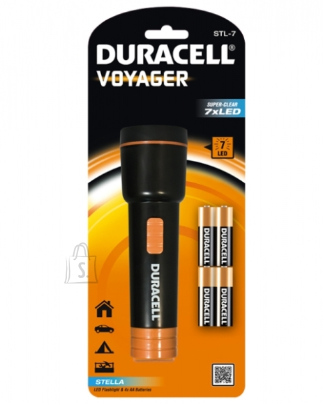 Duracell Taskulamp 7led Duracell, komplektis 4xAA