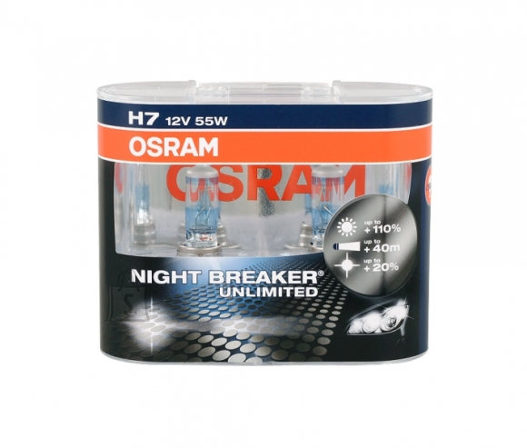 Osram H7 Nightbreaker Unlimited esitule lamp 2tk