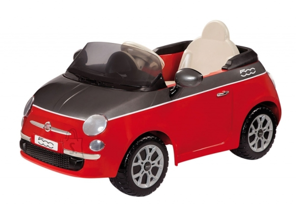 Elektriauto lastele Fiat 500 6V punane-hall